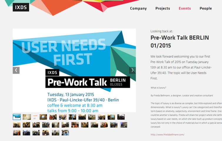 IXDS Pre Work Talk