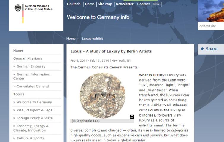 Luxus exhibition Frieda Bellmann