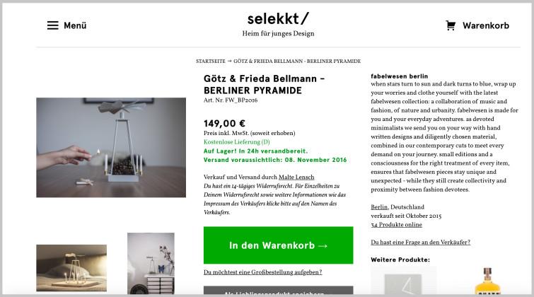 Frieda Bellmann Götz Bellmann Berliner Pyramide Selekkt